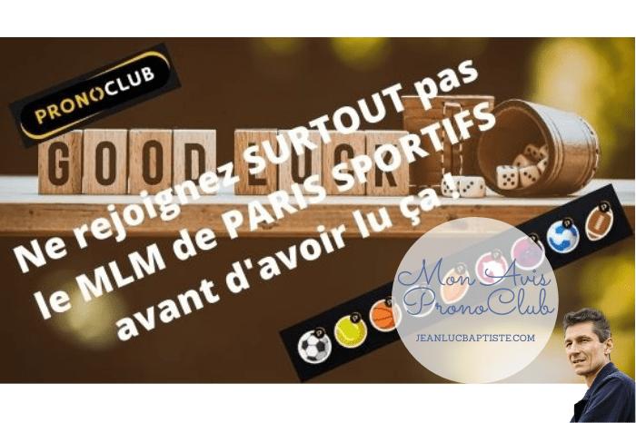 You are currently viewing Avis PronoClub : Ne rejoignez SURTOUT PAS le MLM de paris sportifs avant d'avoir lu ça